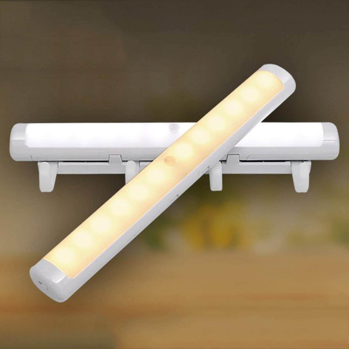 Motion Sensor Night Light Potable LED Closet Lights Wall Lamp Battery Powered Wireless Cabinet Leds Lamp - intl
