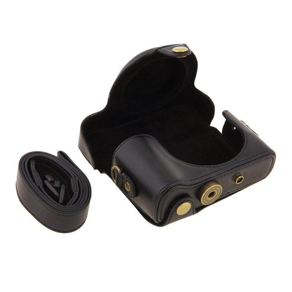 Tutup untuk Sony HX50V Kulit PU Hitam, Tas Kamera untuk Sony DSC-HX50V Kualitas Tinggi