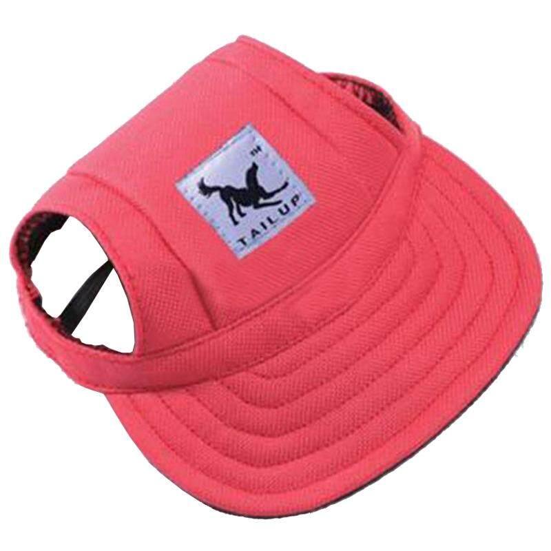 85d9d03656d TAILUP Pet Dog Puppy Baseball Visor Hat Peaked Cap Sunbonnet Outdoor Topee  Summer S Red