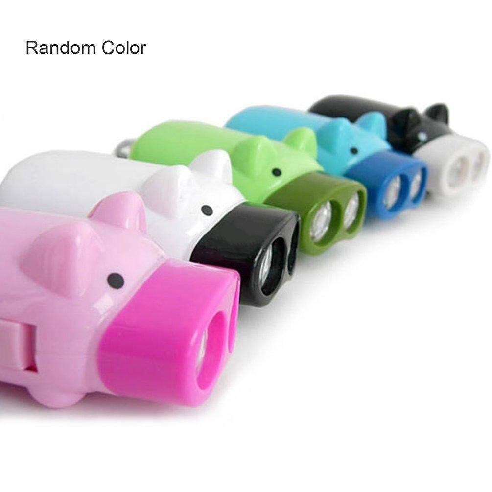 Hình ảnh ELEC Mini Hand Pressure Pig Torch Self-generating LED Flashing Light (Random Color)