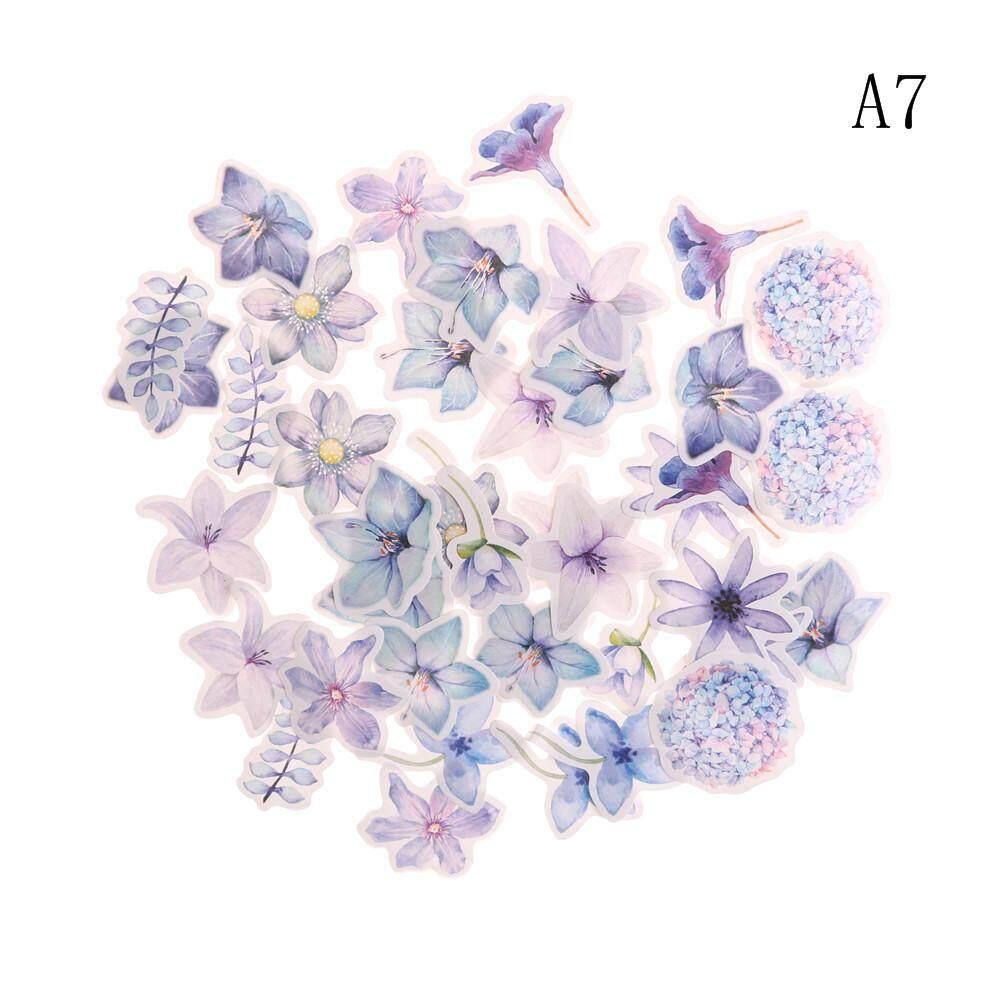 45pcs Kawaii Journal Diary Decor Flower Stickers Scrapbooking Stationery Supply Type:a1 By Beauty Wisdom.