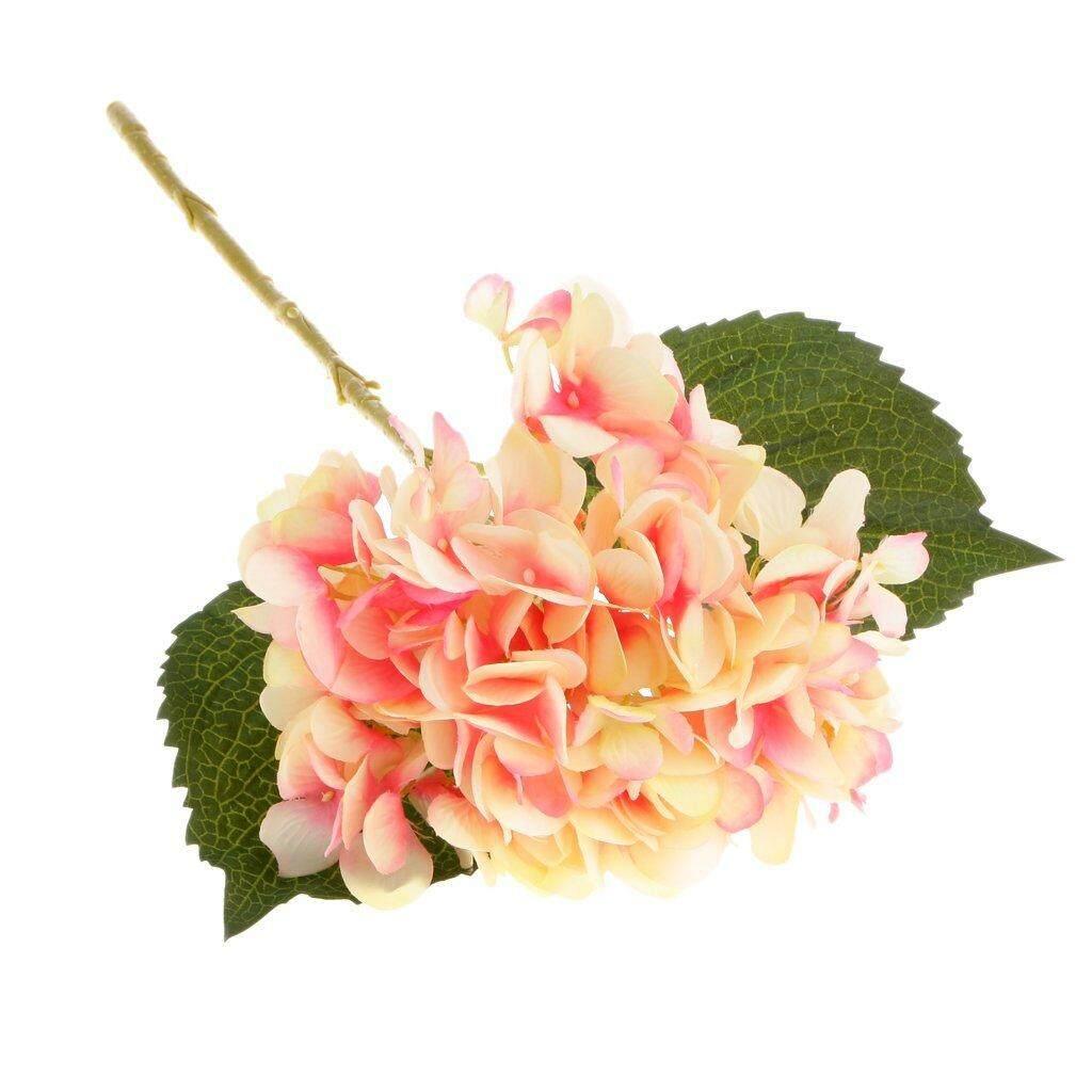 Artificial Hydrangea Flower Cloth Plant Wedding Party Garden Table Decor - Peach red , 45cm Free