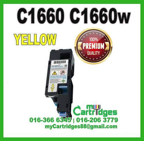 Premium DELL C1660w C1660 1660 YELLOW Compatible Toner Cartridge