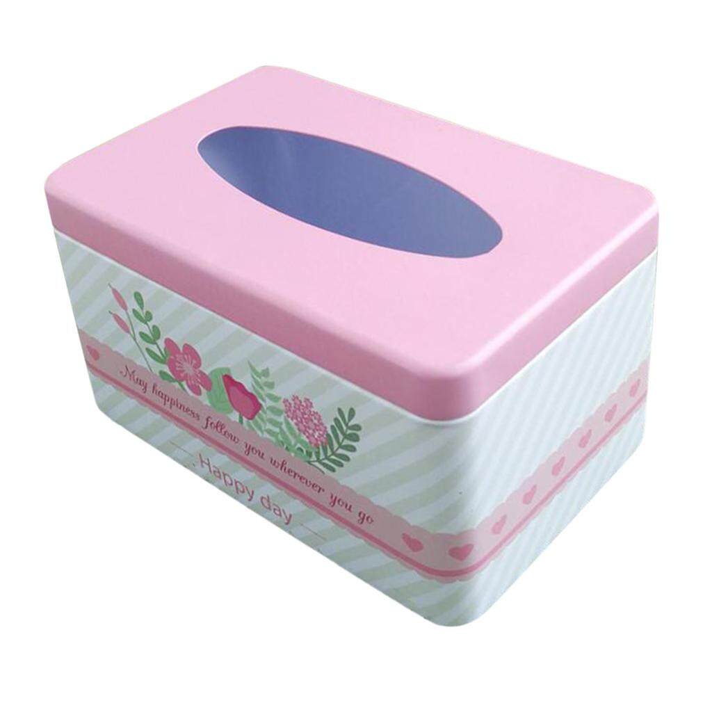 BolehDeals Tissue Box Cover Napkin Holder Car Paper Storage Container Tin Case Kitchen