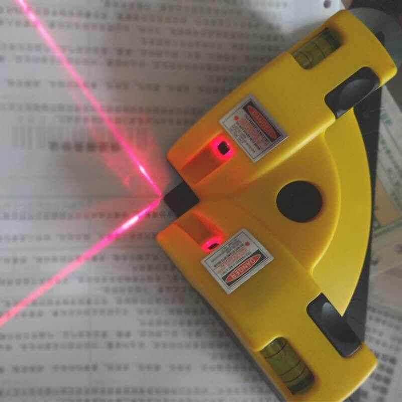 Queo Sudut Siku 90 Derajat Mesin Penggiling Vertikal Horisontal Garis Laser Proyeksi Square Level Inframerah Kaki