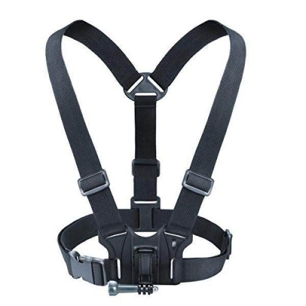 Camera Chest Strap Harness Mount with Tripod Adapter by USA Gear - Works with Canon PowerShot SX620 HS , Nikon Coolpix A900 , Olympus Tough TG-4 & More Point-and-Shoot Cameras or Action Cameras - intl
