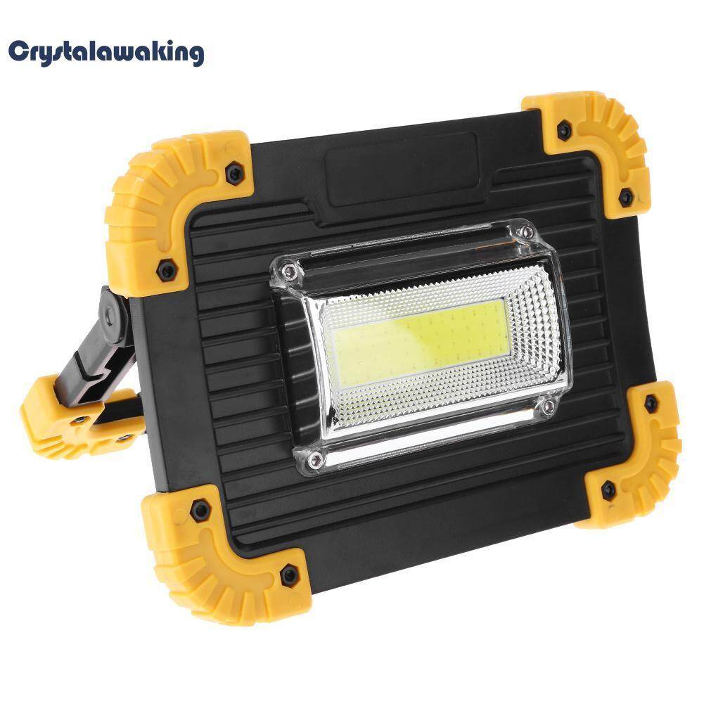 30W 400LM Portable LED Spotlight Floodlight Outdoor Camping Lawn Work Lamp Light