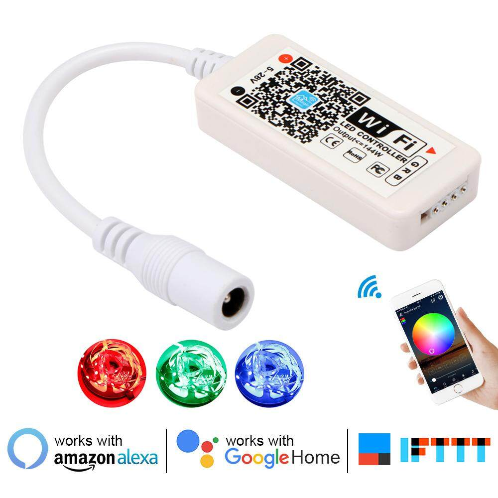 16Million colors Wifi RGB / RGBW led controller smartphone control music and timer mode magic home mini wifi led rgb controller