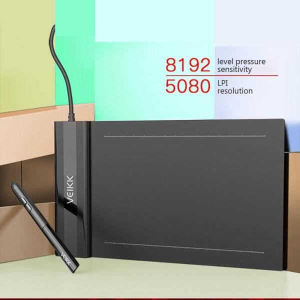 Máy Tính Bảng Vẽ Đồ Họa Kỹ Thuật Số Veikk S640 Máy Tính Bảng Bút 6*4 Inch Với 8192 Cấp Độ Áp Lực Bút Thụ Động 5080 LPI Máy Tính Bảng Vẽ Tay Một Chạm