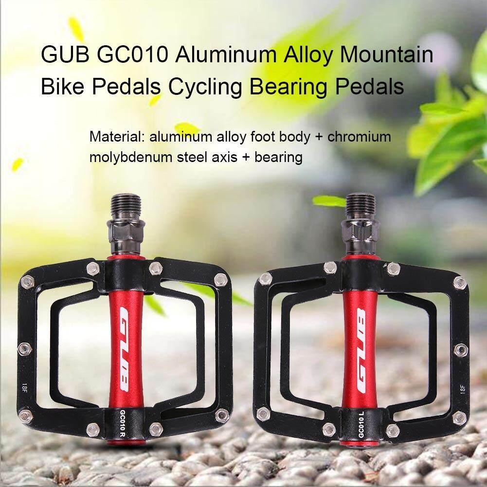 2 Pcs Gub Gc010 Aluminium Aloi Sepeda Gunung Pedal Sepeda Bantalan Pedal-Intl By Rainbowonline.
