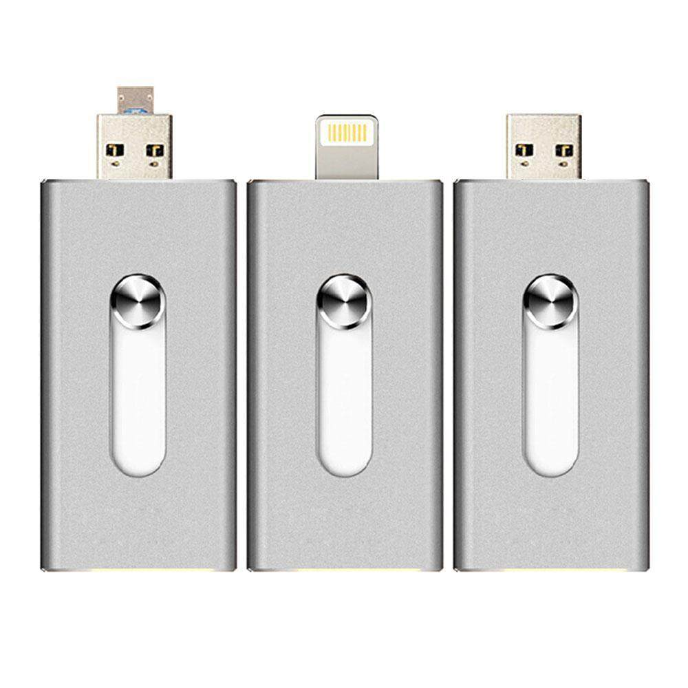 OrzBuy USB Flash Drive 16G/ 64G/128G, 3in1 OTG, IPad Memory Stick, IOS External Storage Expansion For IOS Android PC Laptops - intl
