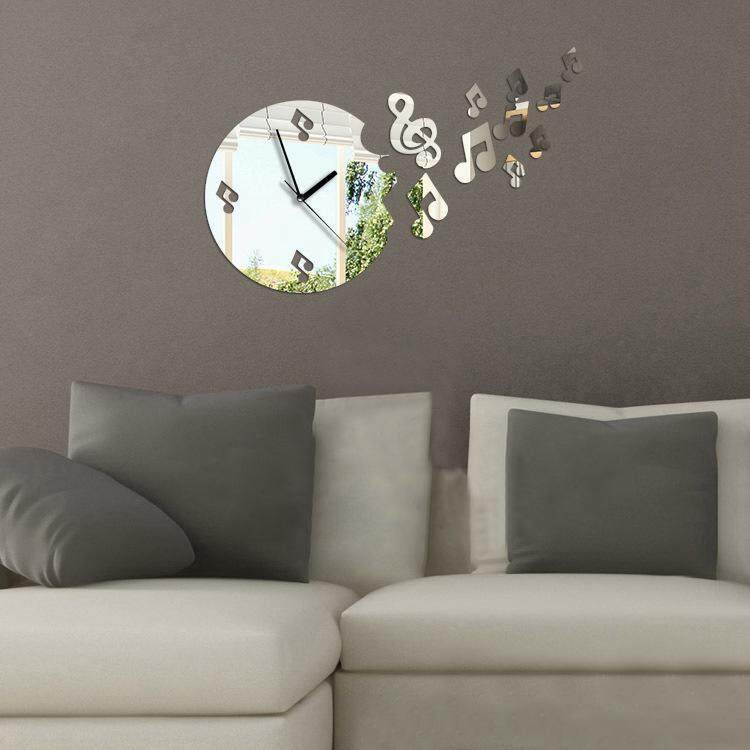 High Quality Sunwonder New Modern Home Room Art 3D DIY Clock Shape Mirror Decoration Wall Stickers - intl