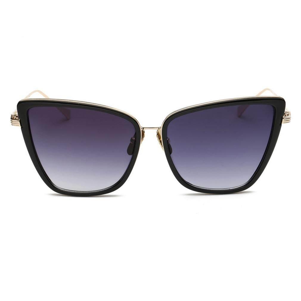 Getek Modis Wanita Kacamata Hitam Cermin Kaca Unik Matahari Kacamata Resin Lensa Kacamata .