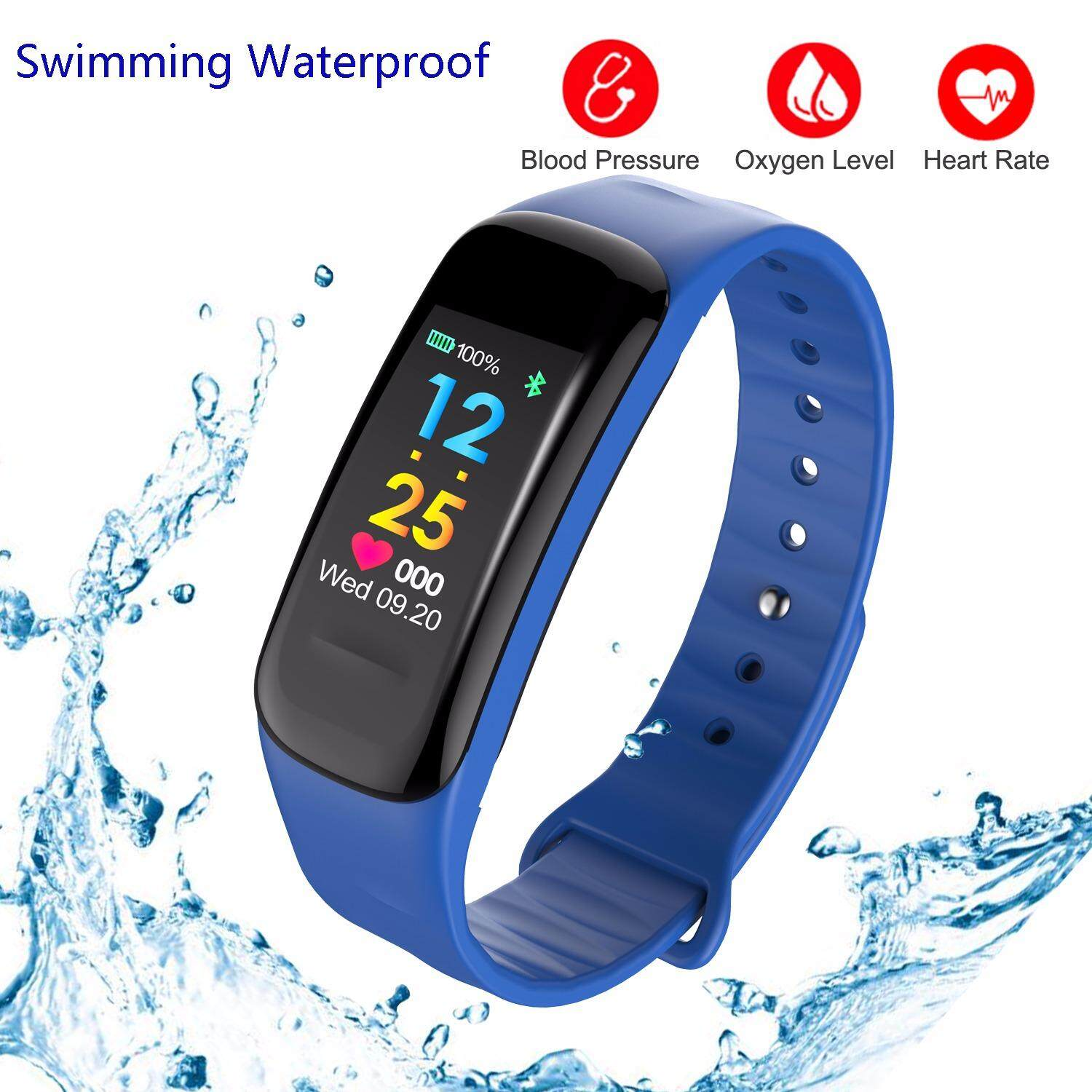 Price Sport Fitness Tracker Stopwatch Colorful Screen Swimming Waterproof Real Time Heart Rate Bp Monitor Activity Tracker Smart Band Calorie Sleep Monitoring Smart Bracelet Pedometer Smart Watch Intelligent Wristband Intl Xbotmax China