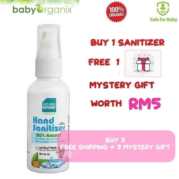 [FREE GIFT] Baby Organix Naturally Kinder Hand Sanitizer Sanitiser 60ml