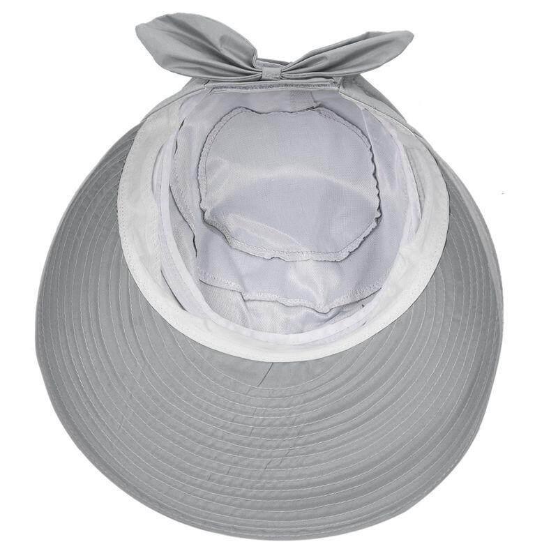 ... Fashion Ikatan Simpul Besar Musim Panas Topi Berpeneduh Pantai Topi  Pantai Abu-abu-Intl ... 56f5752335