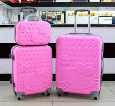 "3 in 1 HELLO KITTY  PIN NUMBER LOG LUGGAGE 24""/20""/12"""