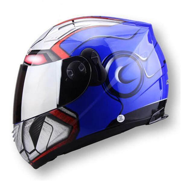 e0c9dde2 Iron Man spider man motorcycle helmet men and women anti-fog dual ...