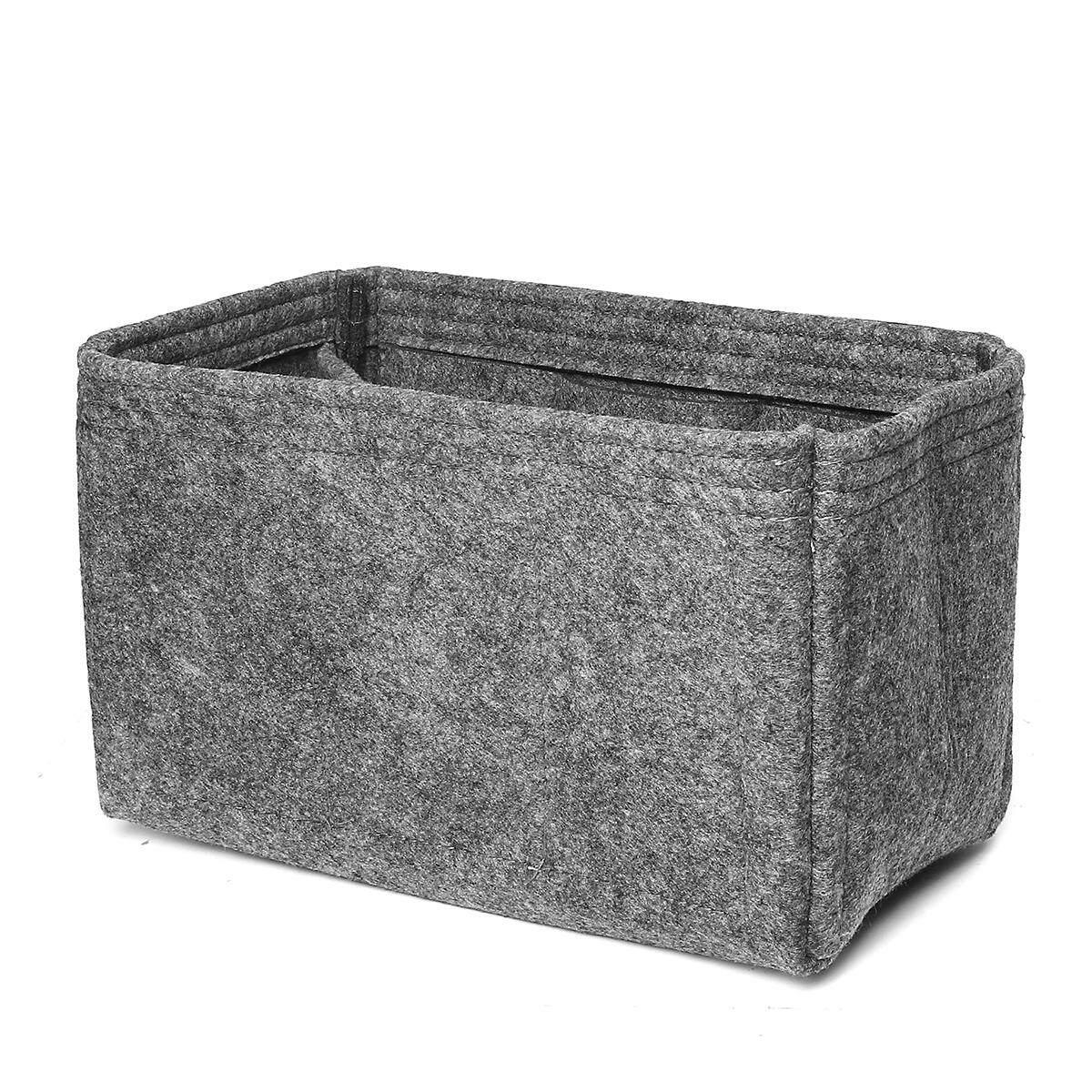 26x15x14cm Felt Insert Handbag Organizer Travel Purse Bag Organizer Storage gray - intl