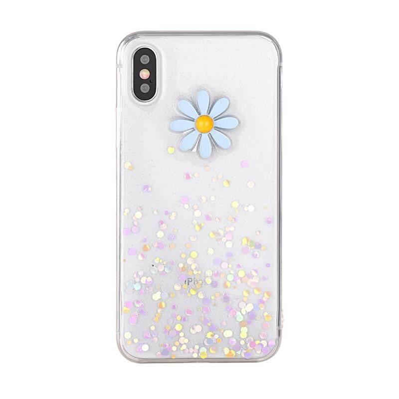 Sempurna untuk iPhone 6 Iphone 6 S 4.7 Inch Casing Belakang 3D Daisy Ultra Ramping Cocok