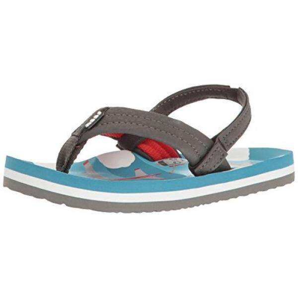Reef Boys Ahi Sandal, Blue Planes, 2-3 M US Big Kid - intl