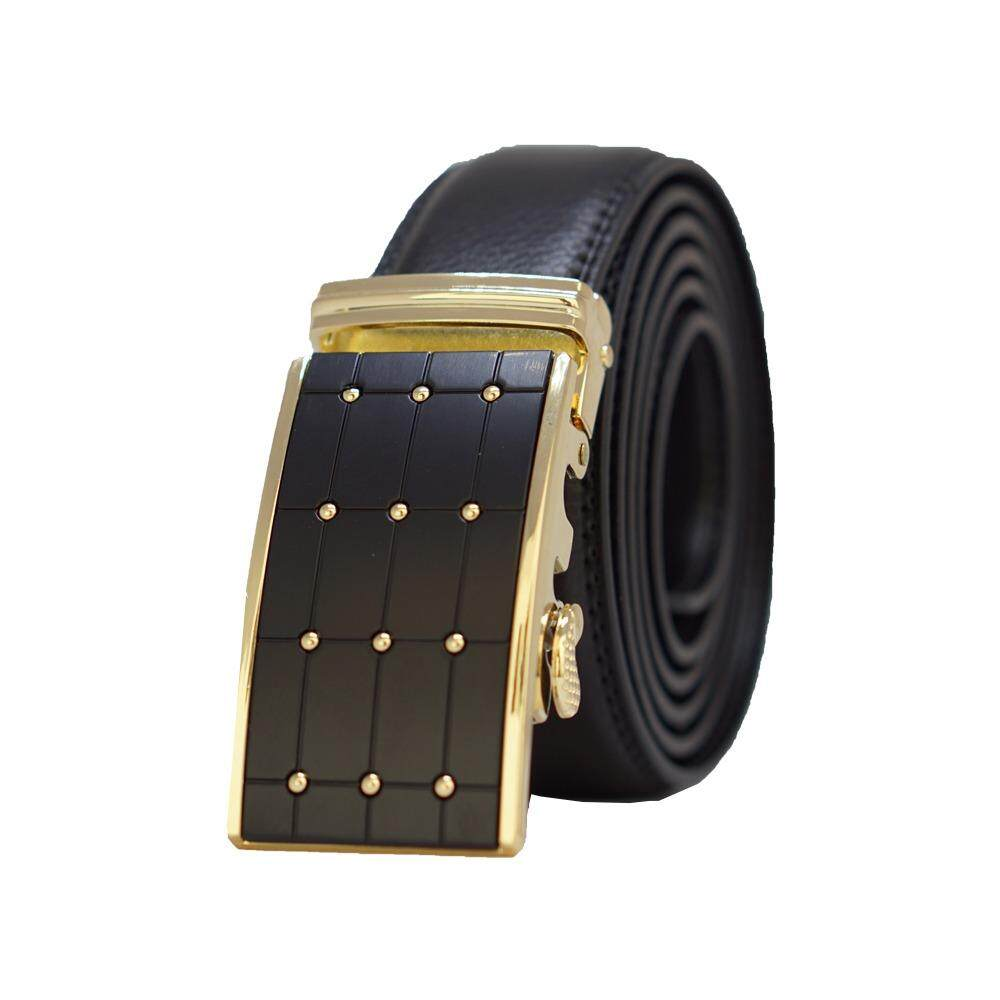 [100% CALF LEATHER] Premium Quality Best Seller MB030 Business Men Leather Belt [BLACK/READY STOCK] - Adjustable Strap for Size S , M , L , XL