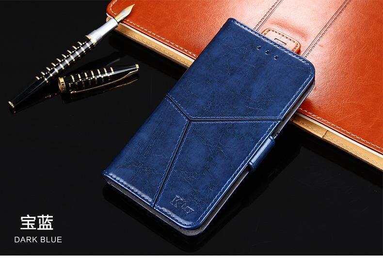 K'try Telepon Seluler Case untuk OPPO F5 Mulia Minyak Lilin Pola Flip Casing Ponsel Penutup Pelindung Kartu Paket 3 In 1 (Tpu + PU + Kulit) case Kulit