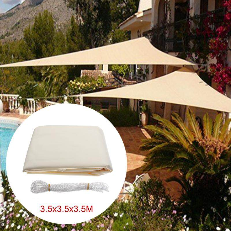 12FT Sun Shade Sail Cloth Triangle Outdoor Canopy Awning Waterproof 90% UV Block - intl