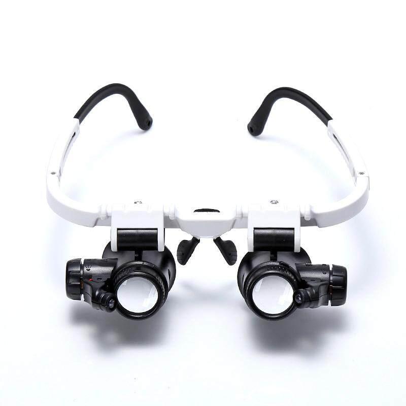 Beauty & Health Honey 5 Lens Headset Magnifier With Led Lights Hand Free Magnifying Glass Headband Led Lamp Light Eyelash Extension Make Up Tool