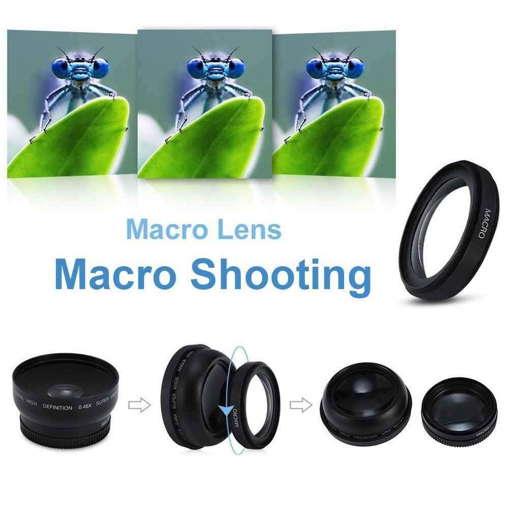 Jayoyi 62 Mm 0.43X Makro Sudut Lebar Lensa Kamera untuk Semua 62 Mm Perkakas Bertualang Lensa Kamera Ialah