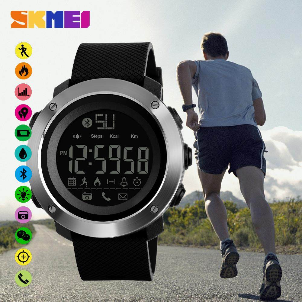 Kelebihan Smart Watch Skmei 1256 Bluetooth Pedometer Smartwatch 50m Jam Tangan Pria Digital 1316 Black Water Resistant 100 Original 1287 Men Ios Android 3d Sport Running Wristwatch