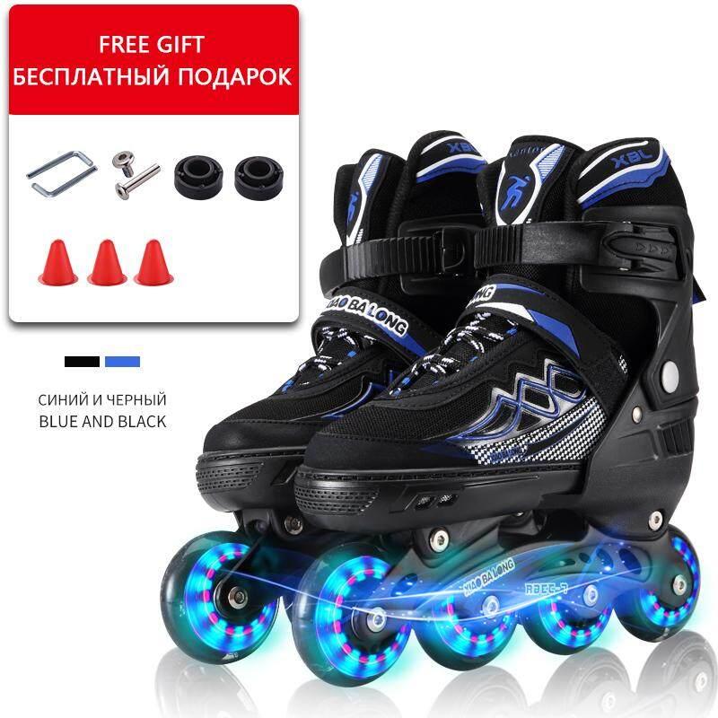 Chuyên nghiệp Voan Sọc Nội Tuyến Bánh Trưởng Thành Con Lăn Trượt Băng Giày Trượt Giá Rẻ Trượt Băng Nghệ Thuật dành cho Thanh Thiếu Niên