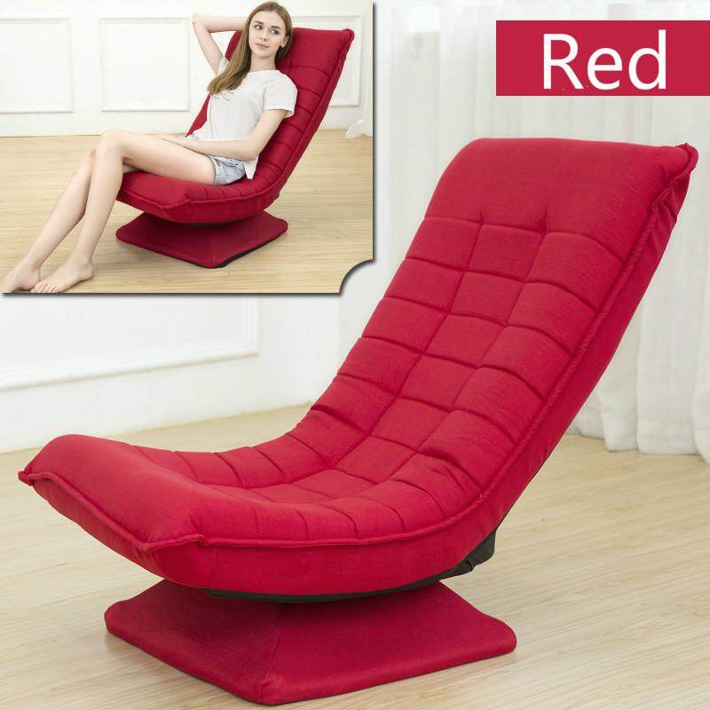 Relaxing Folding Sofa, 360 Degree Rotation Modern Design Floor Sofa Bed 5 Position Adjustable Sofa Furniture Living Room Reclining Folding Moon Chair Daybed
