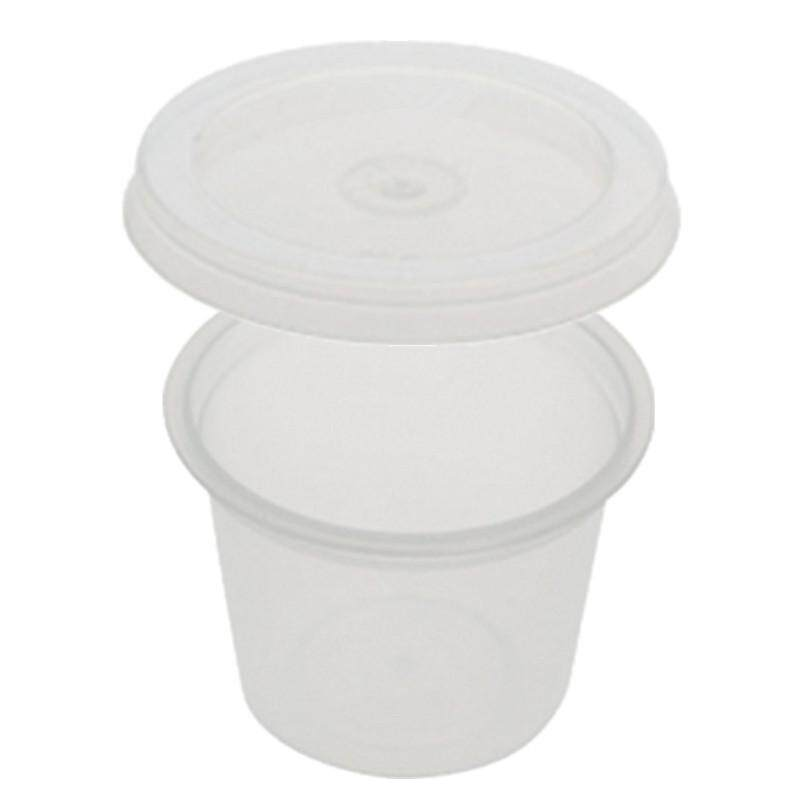 25ml PP Microwavable Round Containers With Lids Clear 10pcs