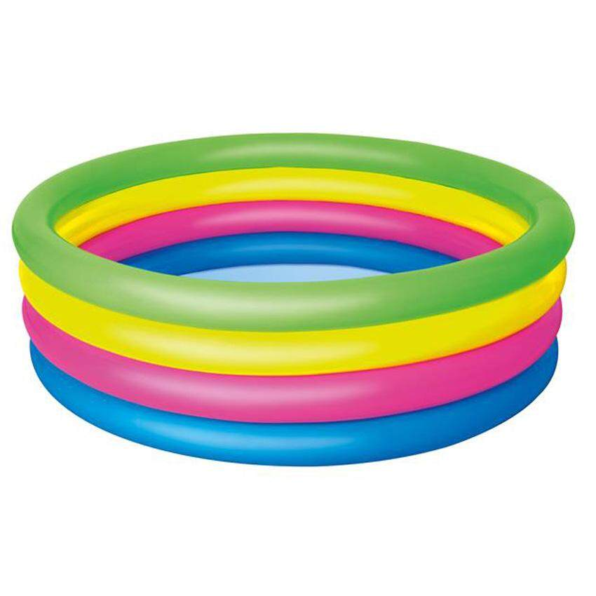 Bestway 51117 Vinyl 1.57M x 46cm Kids Play Pool Multi-color Model Safety Kids Play Swim Pool Toys