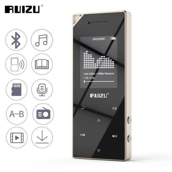 RUIZU D05 Metal Bluetooth MP3 Player Portable Audio 8GB Sport Mp3 Music Player With Built-in Speaker FM Radio Support TF Card