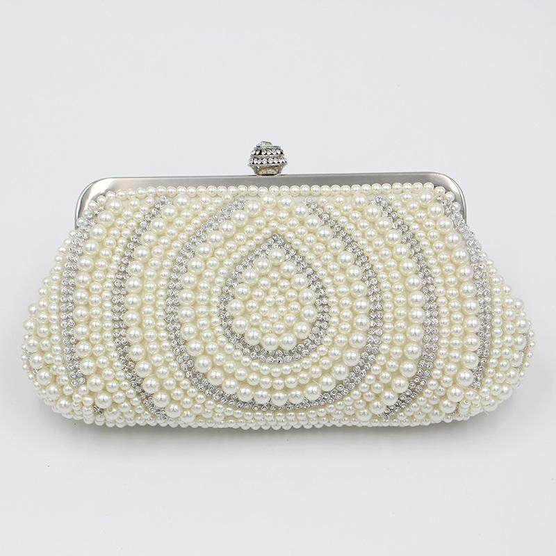 50667ff0df1873 Pearl dinner bag new style handmade beaded high-end banquet bag wedding  party dinner bag