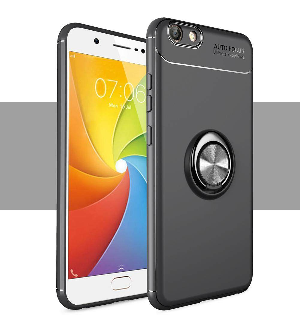 UPaitou Newest Case for VIVO Y69 Soft TPU Phone Case with Ring Holder Kickstand, Anti