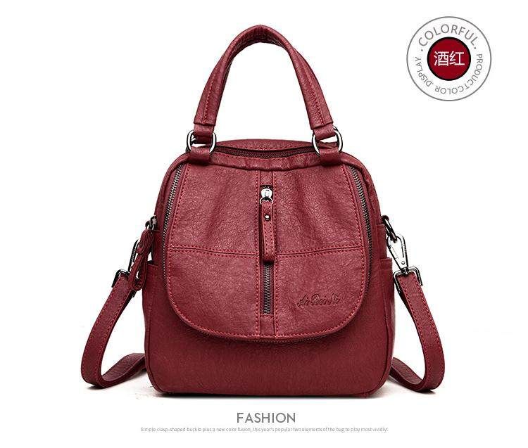 6fdac0e47b7e  Red wine Anti-theft shoulder bag female Korean version of the new wave