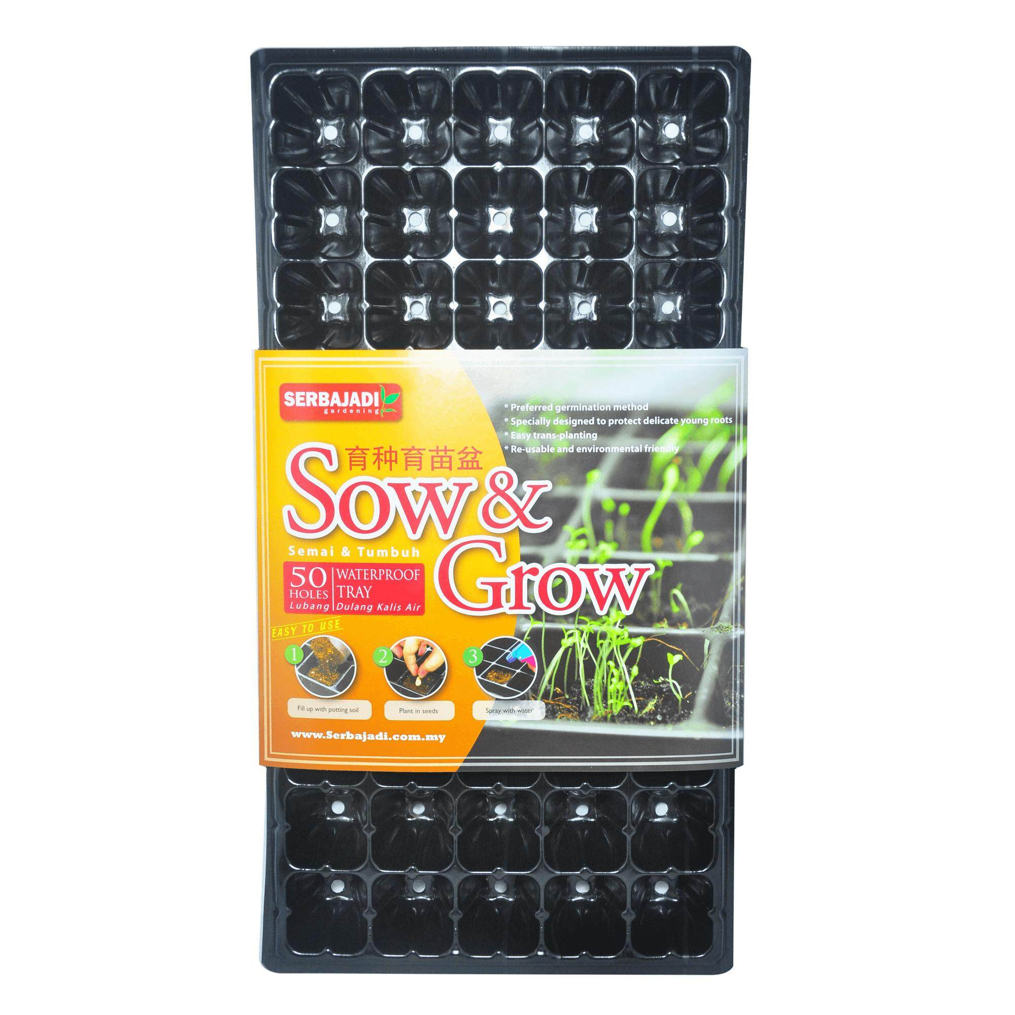 Serbajadi Sow and Grow Tray (50 Holes) (Made in Korea)
