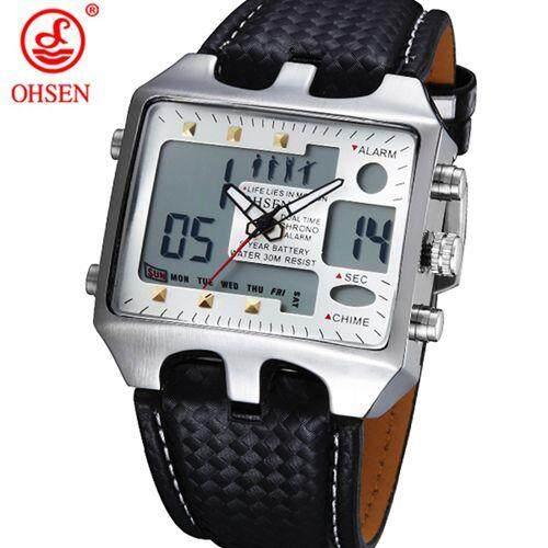 Ohsen AD0930 Ohsen Analog Digital Jam Tangan Sporty Pria Lampu Latar Reloj  Hombre Relogios Masculino Tas 876f0d2182