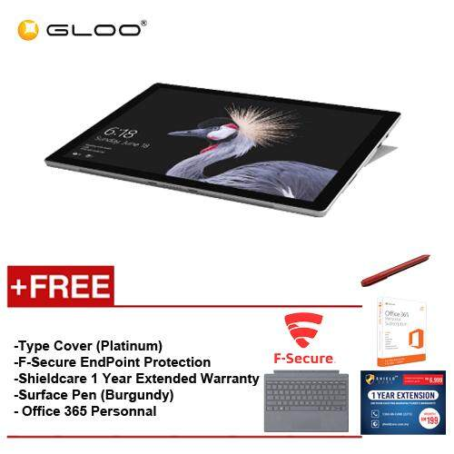 NEW Microsoft Surface Pro - Core I5 8G/128GB Free Surface Pro Type Cover (Platinum) + Microsoft Office 365 Personal + Shieldcare 1 Year Extended Warranty + F-Secure End Point Protection + Surface Pen Malaysia
