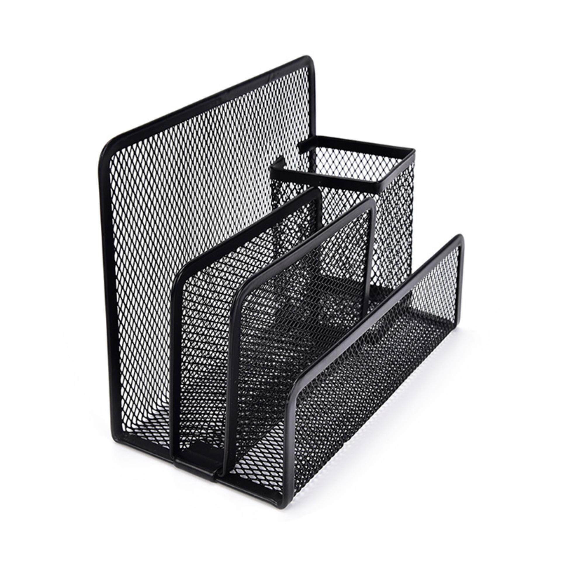 Offices promotion Mesh Letter Paper File Storage Rack Holder Tray - intl