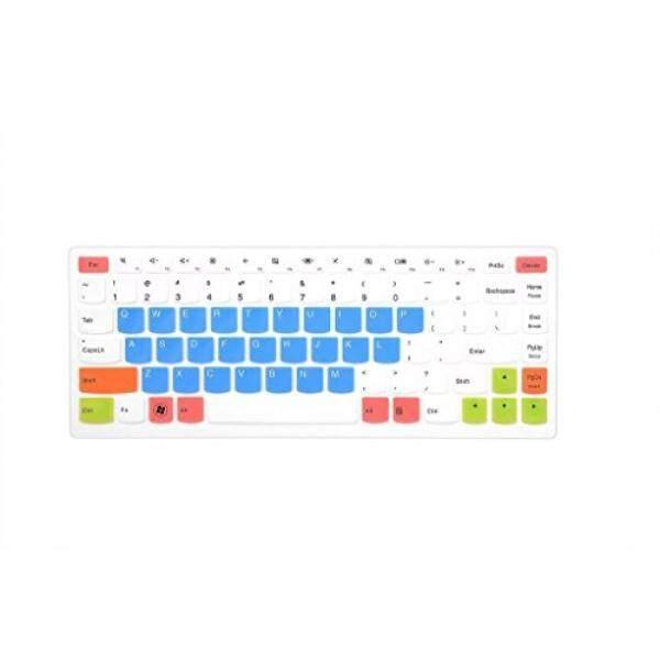 Keyboard Skins Leze - Ultra Thin Keyboard Skin Cover for Lenovo IdeaPad U310,U400,U410,U430,S400,S415,YOGA 13 14,Yoga 2 13,YOGA 900,YOGA 700 14 Laptop - White Blue - intl