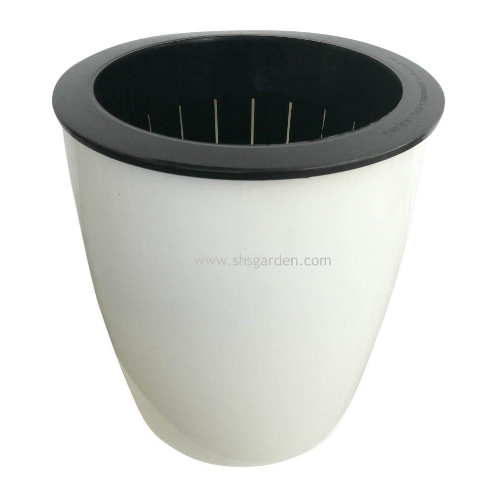Medium Self watering Pot (RW145) Hydroponic Pot (Round White) Pasu Hidroponik (SHS Kebun)
