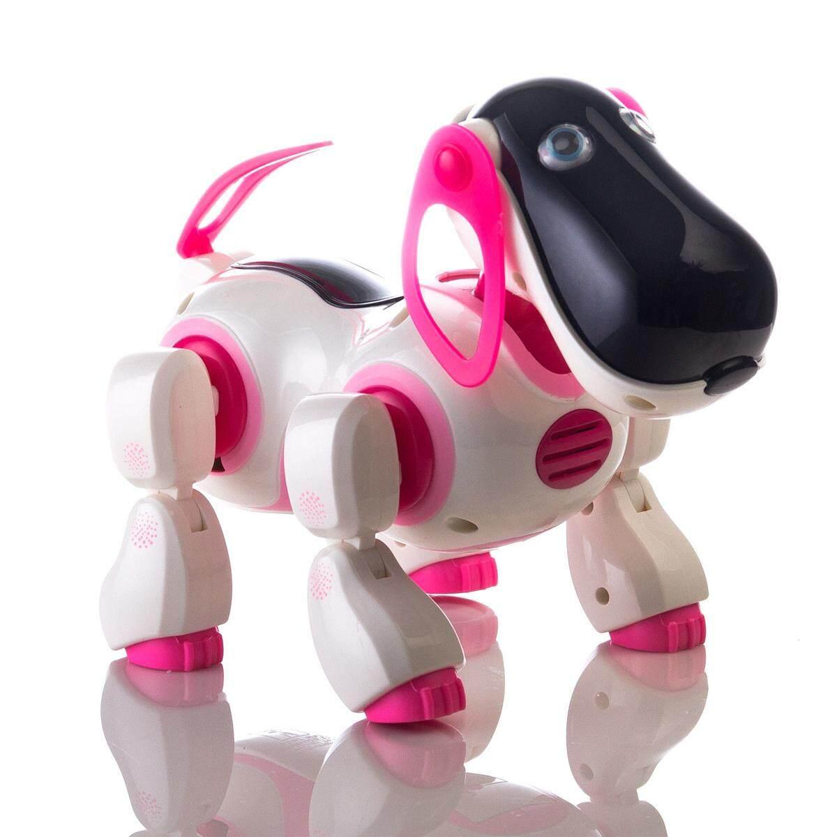 Detail Gambar RC Smart Cerita Robot Anjing Bernyanyi Menari Berjalan Berbicara Dialog Mainan Hewan Peliharaan Berwarna