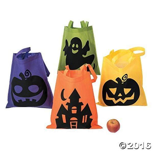Halloween Tote Bags - 12 Per Order - Large 16 Inch -Ionic Trick or Treat