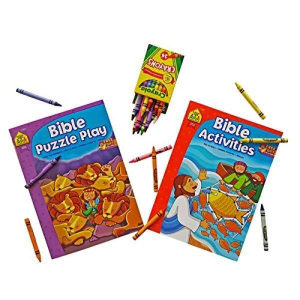 Bible Coloring Book Activities And Puzzle PlaySet Of 2 Color By Numbers
