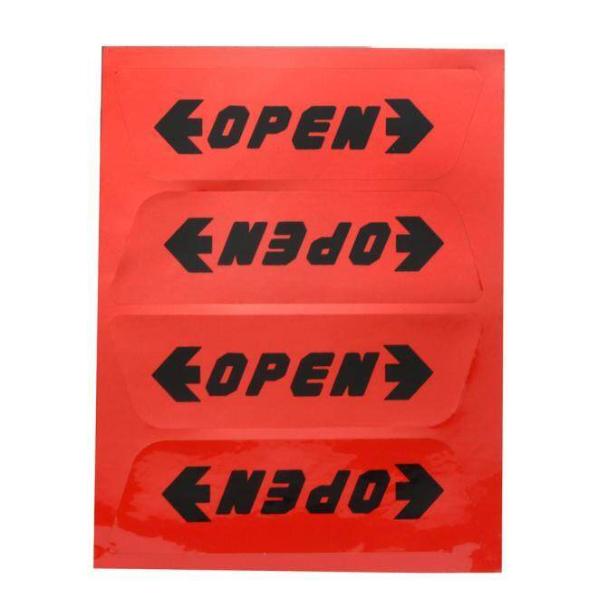 1 Set Stiker Oto Reflektif Mobil Pembuka Pintu Keselamatan Peringatan Tips Stiker Fanestiy