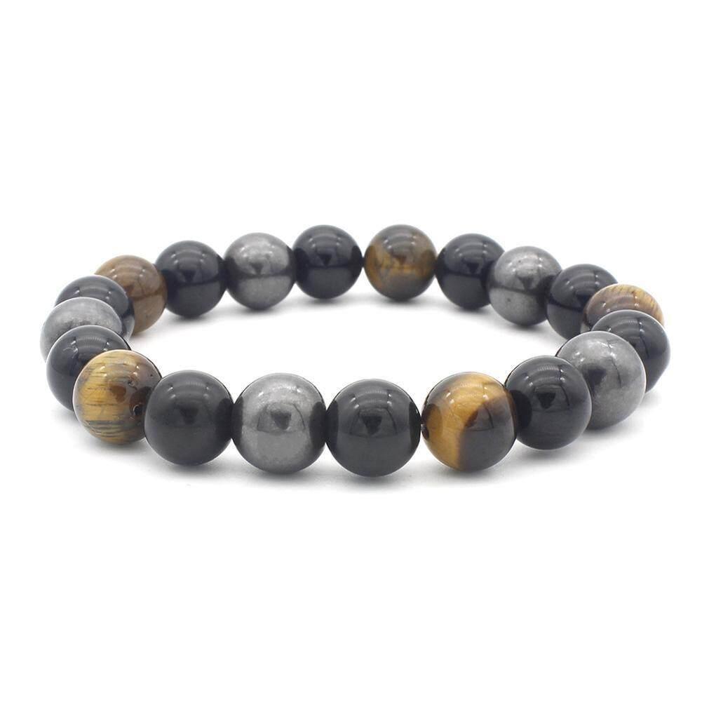 Fashion Women Tiger Eye Stone Strand Bracelet Beads Bangle Casual Jewelry